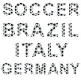 Soccer style words Stock Images