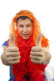 Soccer supporter thumbs up Stock Photos