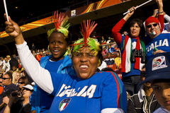Soccer Supporters - FIFA WC Stock Image