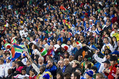 Soccer Supporters - FIFA WC. Soccer fanatics dressed up in fancy dress costume to show support for the team at the 2010 FIFA soccer world cup Royalty Free Stock Images