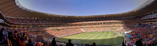 Soccer Supporters Panoramic - FIFA WC royalty free stock image
