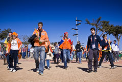 Soccer Supporters at Soccer City - FIFA WC. They were there in the tens of thousands Royalty Free Stock Images