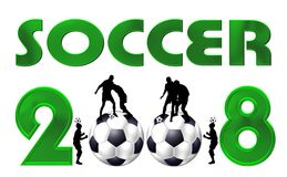 Soccer symbol 2008 Royalty Free Stock Photography
