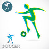 Soccer symbol Stock Photography