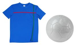 Soccer T-Shirt. Isolated Royalty Free Stock Images