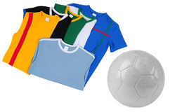 Soccer T-Shirts. Isolated Stock Image