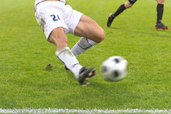 Soccer tackle Royalty Free Stock Images