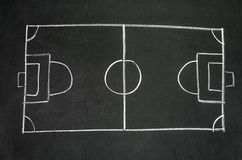 Soccer tactic board. Close up shot of a soccer tactic board Stock Image