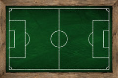 Soccer tactic board Stock Photography