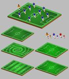 Soccer Tactic Info Element Graphic. Vector illustration of soccer tactic graphic element Royalty Free Stock Image