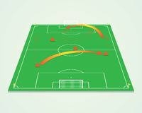 Soccer tactic table. Perspective. 3d vector illustration Stock Photography