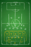 Soccer tactic table. Defensive. Bus tactic. Vector illustration Stock Photos