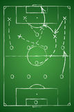 Soccer tactic table. Vector illustration Stock Image