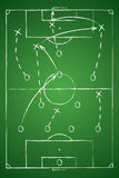 Soccer Tactic Table. Vector Illustration. The Tactical Scheme Stock Images