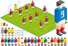 Soccer tactical Kit. Vector illustration of Soccer tactical Kit, in  file elements are in layers for easy editing Royalty Free Stock Photos