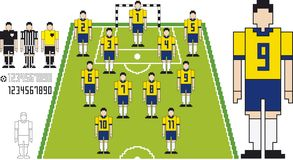 Soccer tactical Kit. Vector illustration of Brazil Team Soccer tactical Kit Royalty Free Stock Photography