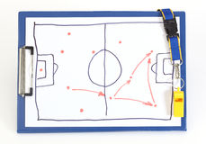 Soccer tactical plan royalty free stock photo