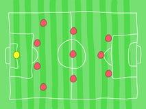 Soccer tactics Stock Image