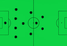 Soccer tactics 41212 Stock Photos
