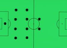 Soccer tactics 442 Stock Photo