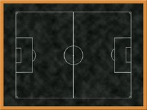 Soccer tactics board Stock Image