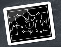 Soccer tactics Stock Photography