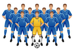 Soccer team. On a white background Royalty Free Stock Photography