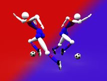 Soccer Team. 3d Soccer Team royalty free illustration