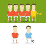 Soccer team clip-art Royalty Free Stock Images