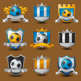 Soccer team emblems Royalty Free Stock Photography