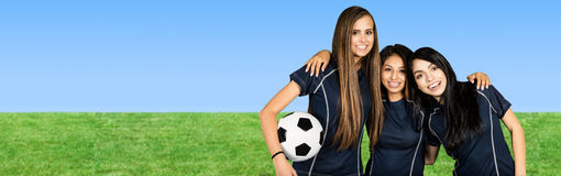 Soccer Team At The Field Royalty Free Stock Photography