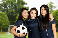 Soccer Team At The Field Royalty Free Stock Images