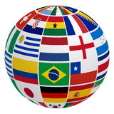 Soccer team flag. Globe of soccer team flag Stock Image