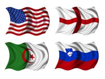 Soccer team flags group C Stock Photo
