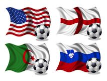 Soccer team flags group C Royalty Free Stock Photo