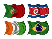 Soccer team flags group G Royalty Free Stock Photos