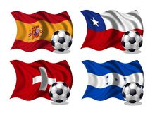 Soccer team flags group H Stock Photo