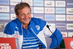 Soccer team head coach Ján Kozák stock images