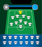 Soccer team plan vector Royalty Free Stock Photos