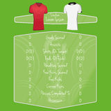 Soccer Team Player Charts Editable With Space For Text. Vector Soccer Team Player Charts Editable With Space For Text stock illustration