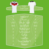 Soccer Team Player Charts Editable With Space For Text Stock Photo