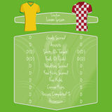 Soccer Team Player Charts Editable With Space For Text. Vector Soccer Team Player Charts Editable With Space For Text royalty free illustration