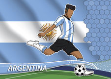 Soccer team player in uniform argentina. Stock Images
