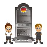 Soccer team set germany cartoon Royalty Free Stock Images