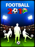 Soccer Team with South African 2010 Event Stock Images