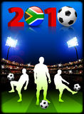 Soccer Team with South African 2010 Event. 