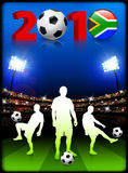 Soccer Team with South African 2010 Event Stock Image