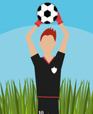 Soccer team sport and games Stock Photography