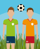 Soccer team sport and games Stock Images
