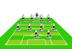 Soccer team tactical scheme. Royalty Free Stock Photo
